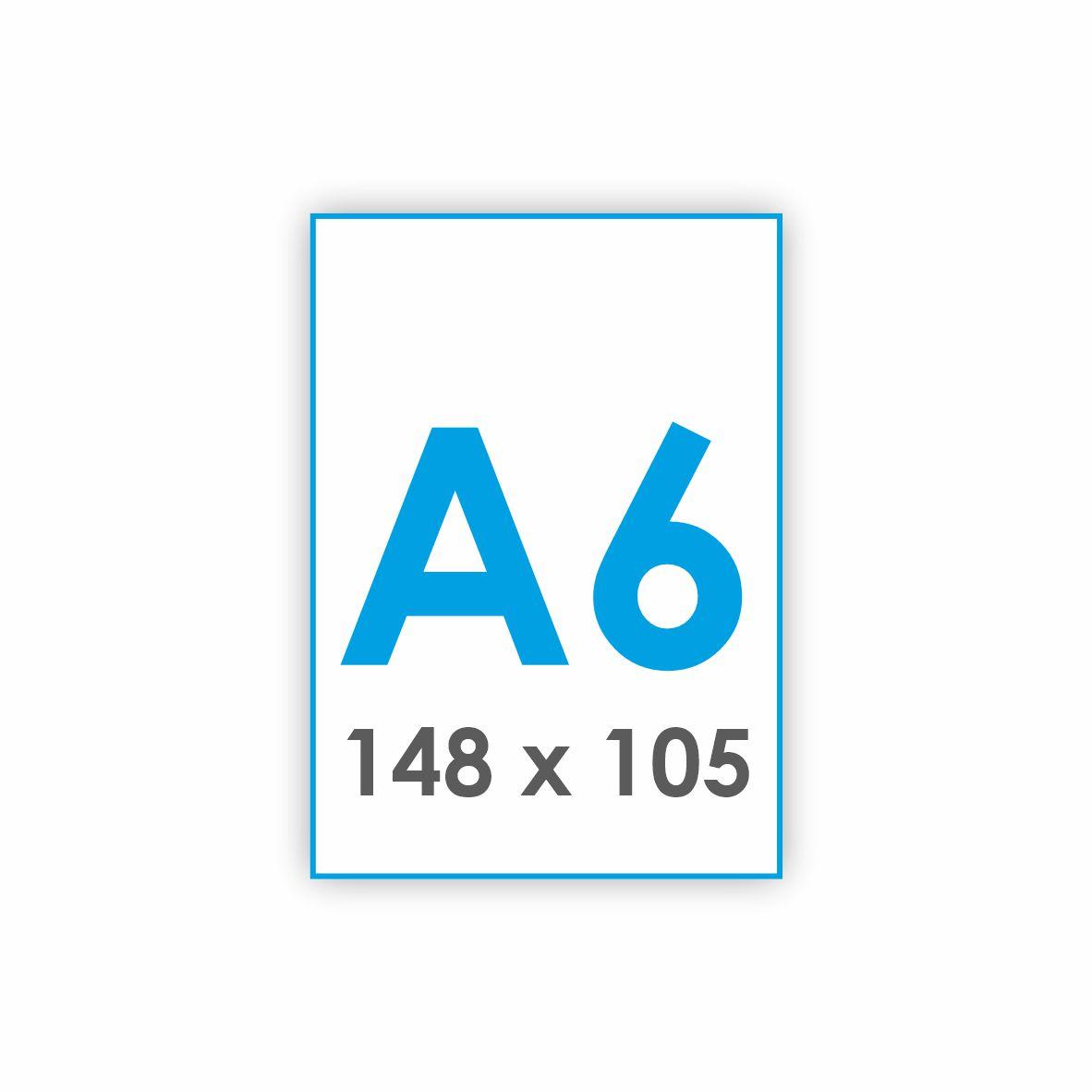 A6 - 148 x 105 mm